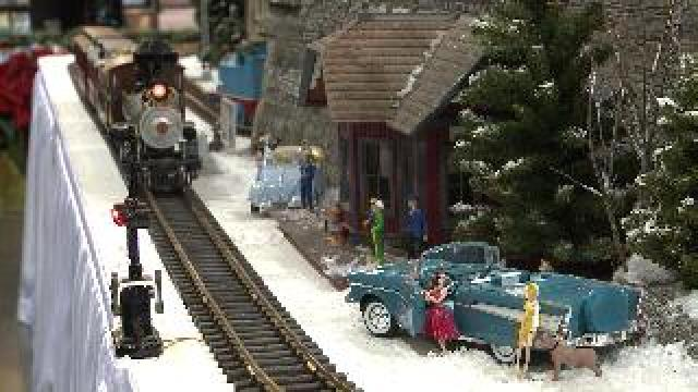 Macy's holiday train display finds new