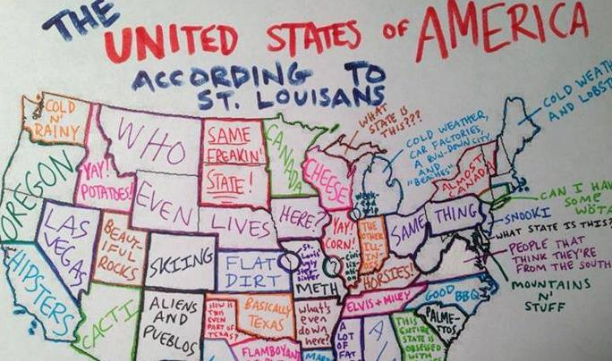 St Louis Map Of Us Map: The USA according to St. Louis | FOX 2