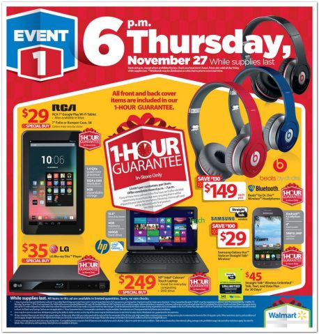 View The Walmart Black Friday Ad For 2014 Deals Kick Off At 6 P M On Thanksgiving Fox 2