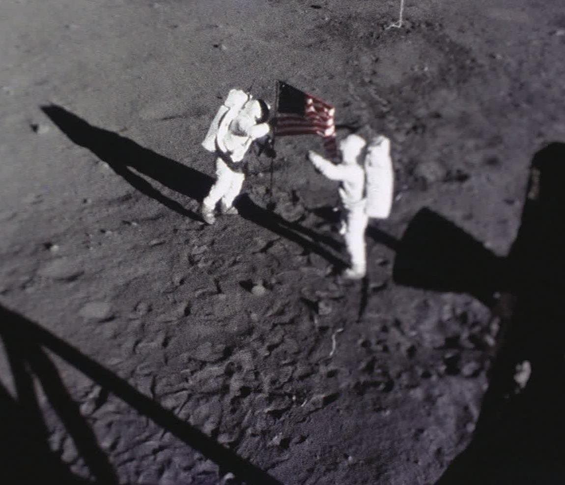 Apollo 11 moon landing, composite image - Stock Image
