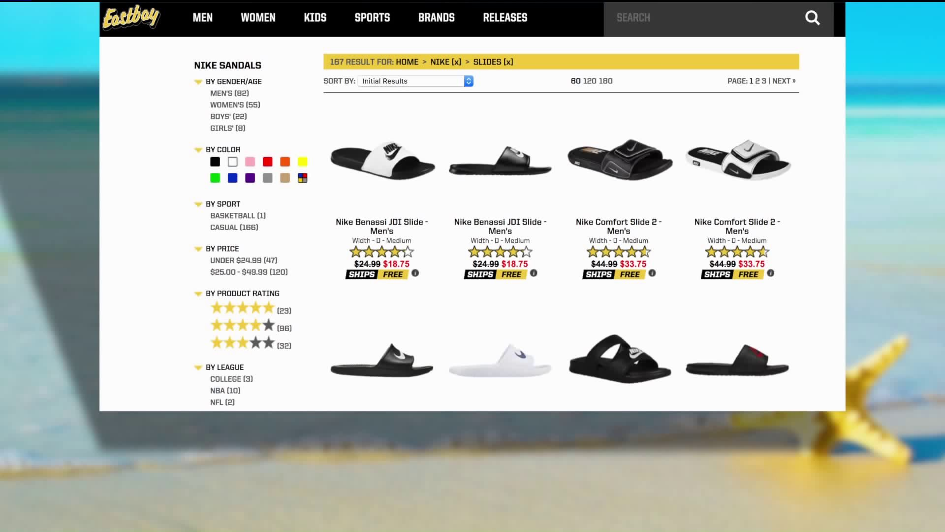 eastbay nike sandals
