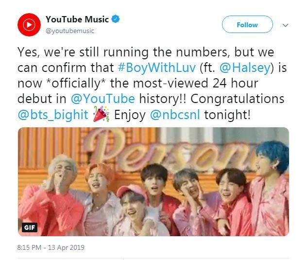 Bts New Music Video Breaks Youtube Record For Most Views In 24 Hours Fox 2