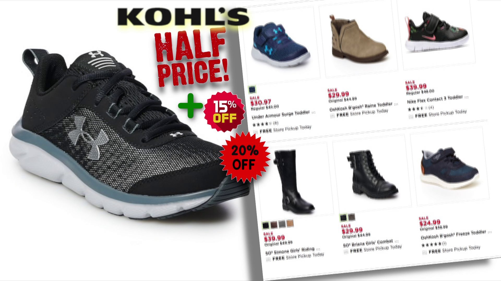 off kids shoes at Kohl's