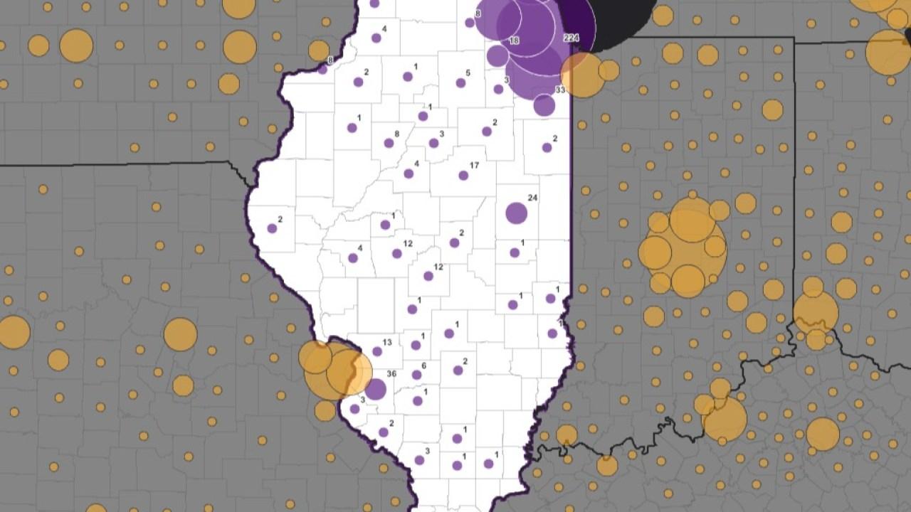 Interaktive Illinois Karte zeigt, wo COVID-19 Fälle gemeldet