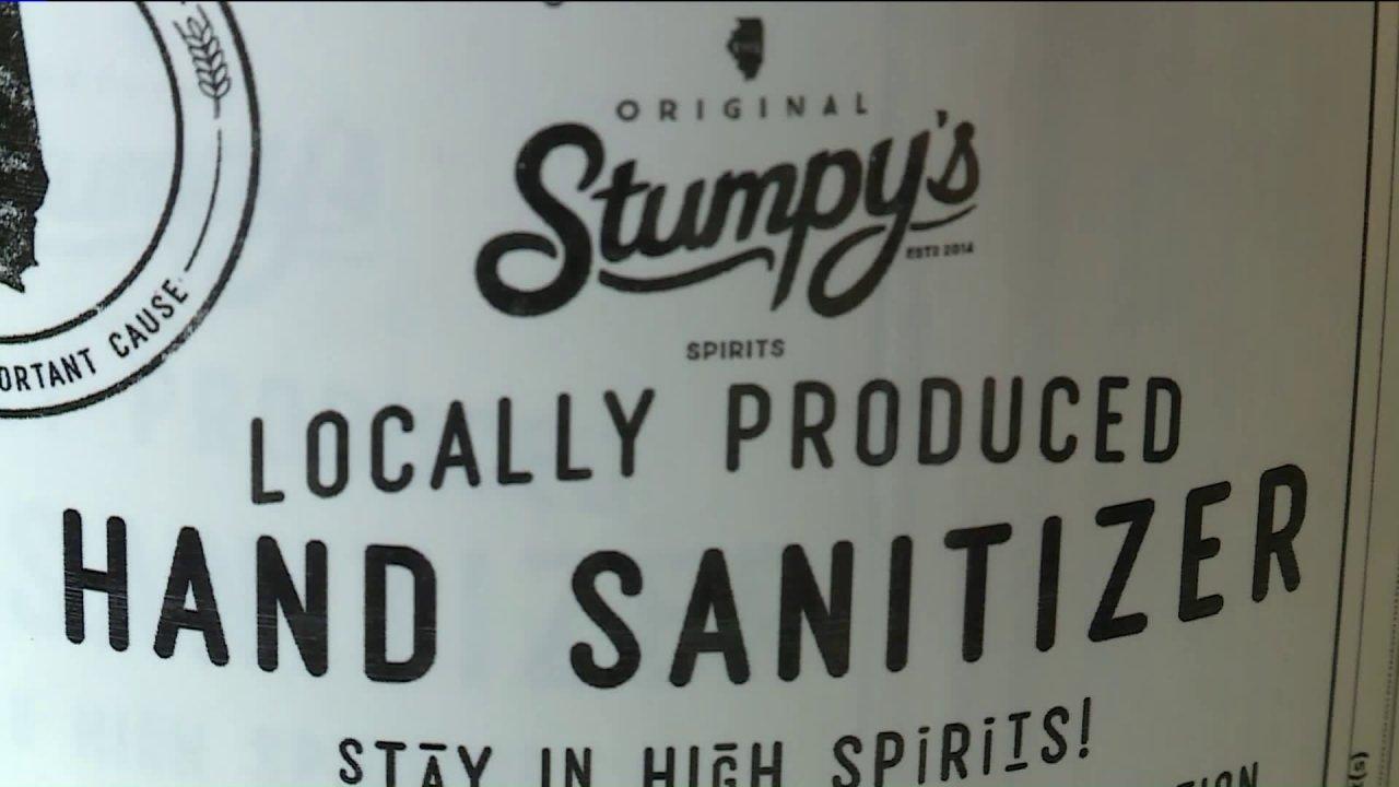 Τοπική whiskey distillery διακόπτες για την παραγωγή sanitizer χεριών