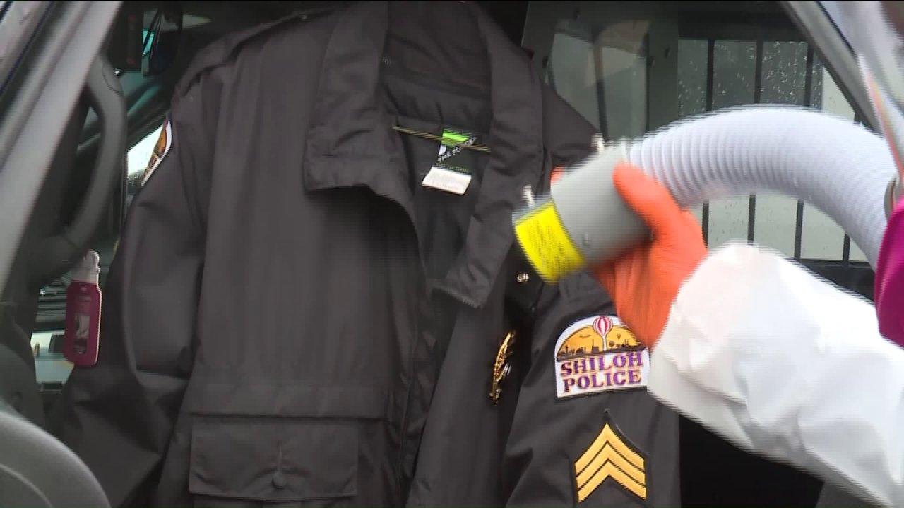 Εταιρεία καθαρισμού decontaminates Shiloh οχήματα της αστυνομίας, μετά τις πρόσφατες coronavirus τρομάξει