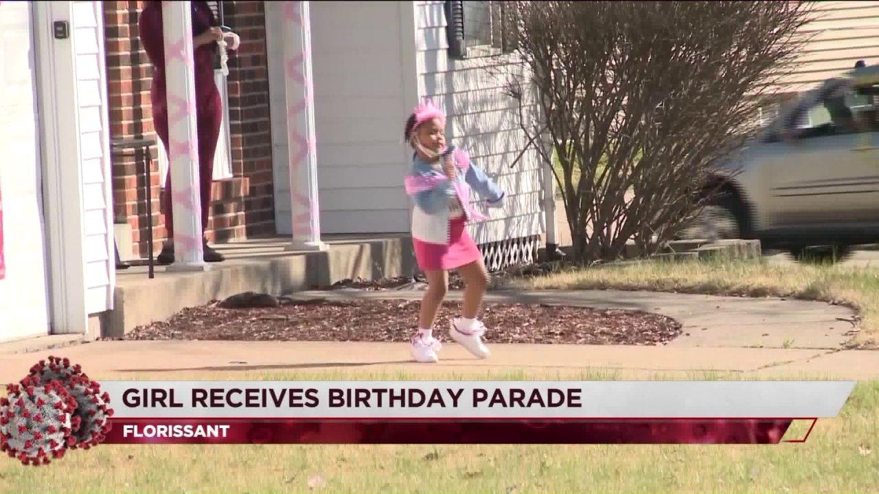 Florissant Mädchen bekommt Geburtstags-parade für fünften Geburtstag