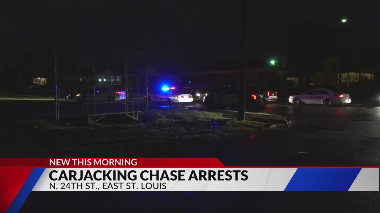 St. Louis carjacking leads to chase and arrest in East St. Louis