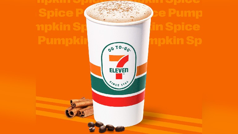 Image via 7-Eleven Announcement for Pumpkin-Flavored Coffee Drinks